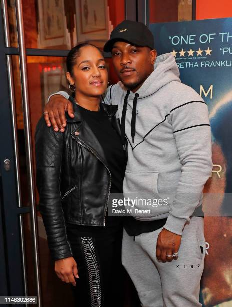 Danielle Isaie and Ashley Walters attend a special screening of Amazing Grace at The Ham Yard Hotel on May 01 2019 in London England