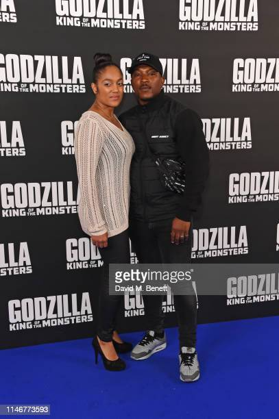 Danielle Isaie and Ashley Walters attend a special screening of Godzilla II King Of The Monsters at Cineworld Leicester Square on May 28 2019 in...