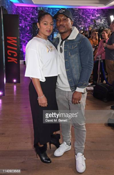 Danielle Isaie and Ashley Walters attend a special screening of John Wick Chapter 3 Parabellum at The Ham Yard Hotel on May 3 2019 in London England
