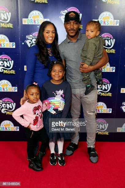 Danielle Isaie and Ashley Walters attend a special screening of My Little Pony at The Ham Yard Hotel on October 14 2017 in London England