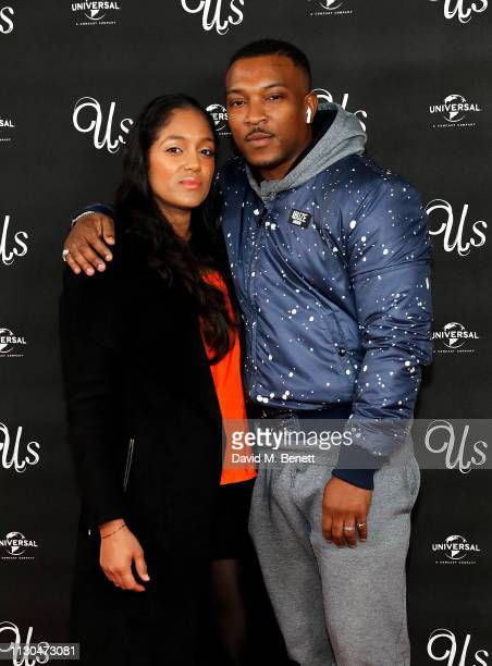 Danielle Isaie and Ashley Walters attend a special screening of Us at the Picturehouse Central on March 14 2019 in London England