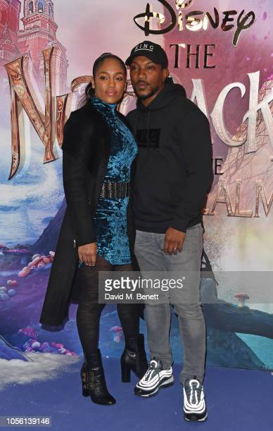 Danielle Isaie and Ashley Walters attend the European Premiere of Disney's The Nutcracker And The Four Realms at Vue Westfield on November 1 2018 in...