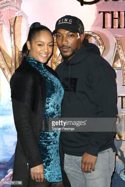 Danielle Isaie and Ashley Walters attend the European Premiere of Disney's 'The Nutcracker' at Vue Westfield on November 01 2018 in London England