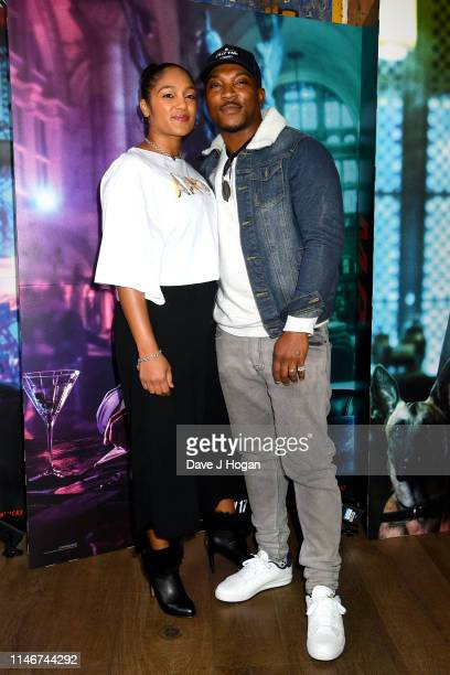 Danielle Isaie and Ashley Walters attend the John Wick special screenings at Ham Yard Hotel on May 03, 2019 in London, England.