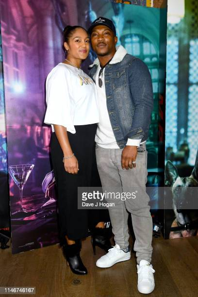 Danielle Isaie and Ashley Walters attend the John Wick special screenings at Ham Yard Hotel on May 03 2019 in London England