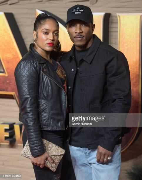 Danielle Isaie and Ashley Walters attend the Jumanji The Next Level UK Film Premiere at BFI Southbank on December 05 2019 in London England
