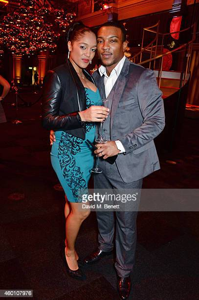 Danielle Isaie and Ashley Walters attend The Moet British Independent Film Awards 2014 at Old Billingsgate Market on December 7 2014 in London England
