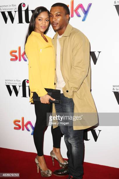 Danielle Isaie and Ashley Walters attend The Sky Women in Film and Television awards 2013 at The Hilton Park Lane on December 6 2013 in London England