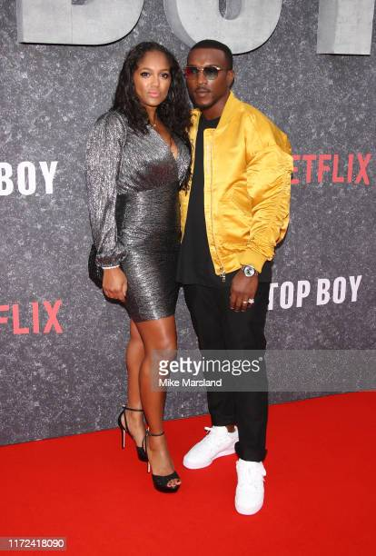 Danielle Isaie and Ashley Walters attend the Top Boy UK Premiere at Hackney Picturehouse on September 04 2019 in London England