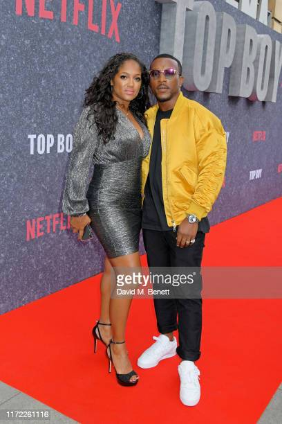 Danielle Isaie and Ashley Walters attend the UK Premiere of Top Boy at the Hackney Picturehouse on September 04 2019 in London England