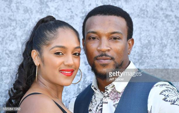 Danielle Isaie and Ashley Walters attend the UK premiere of Yardie at the BFI Southbank on August 21 2018 in London England