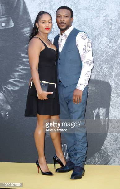 Danielle Isaie and Ashley Walters attend the UK premiere of Yardie at BFI Southbank on August 21 2018 in London England