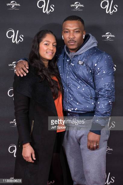 Danielle Isaie and Ashley Walters attend UK exclusive screening of Us at Picturehouse Central on March 14 2019 in London England