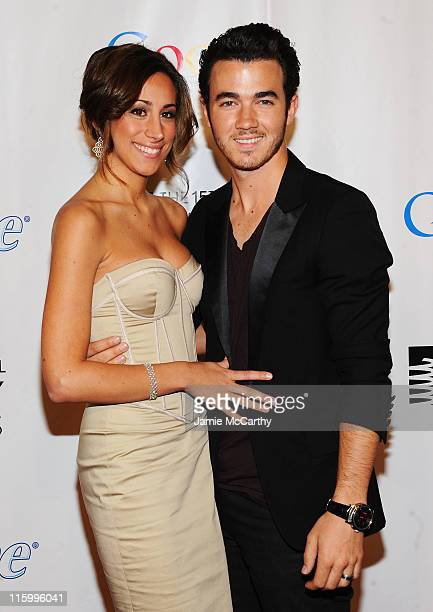 Danielle Jonas and Kevin Jonas attend the 15th Annual Webby Awards at Hammerstein Ballroom on June 13 2011 in New York City
