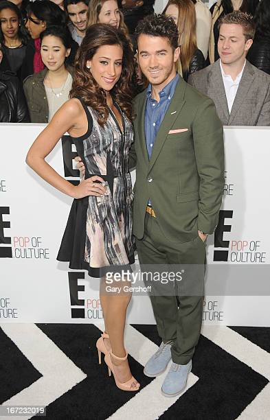 Danielle Jonas and Kevin Jonas attend the 2013 E Upfront at The Grand Ballroom at Manhattan Center on April 22 2013 in New York City