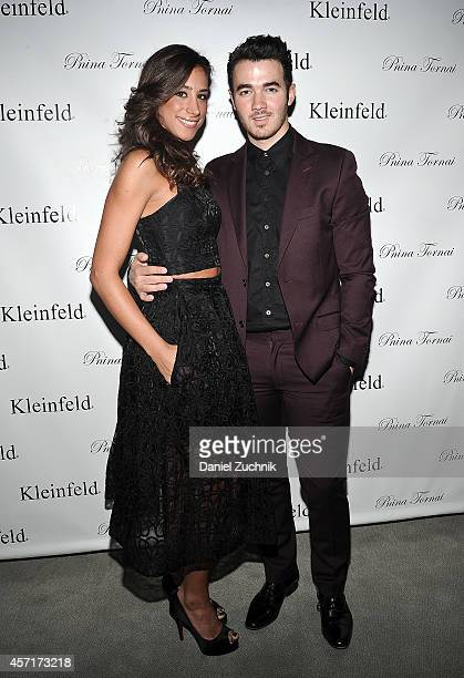 Danielle Jonas and Kevin Jonas attend the Fall 2015 Bridal Collection Pnina Tornai For Kleinfeld at Kleinfeld on October 13 2014 in New York City