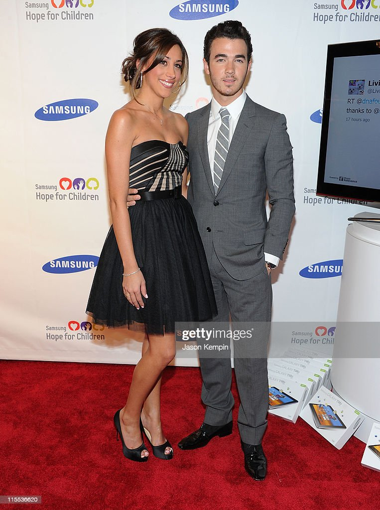 Danielle Jonas and Kevin Jonas attend the Samsung Hope for Children gala at Cipriani Wall Street on June 7, 2011 in New York City.