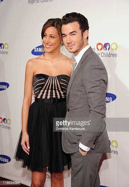 Danielle Jonas and musician Kevin Jonas attend Samsung Hope for Children Gala at Cipriani Wall Street on June 7 2011 in New York City