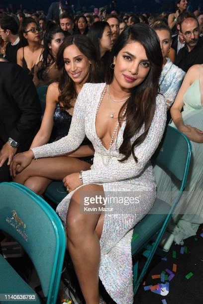 Danielle Jonas and Priyanka Chopra attend the 2019 Billboard Music Awards at MGM Grand Garden Arena on May 1 2019 in Las Vegas Nevada