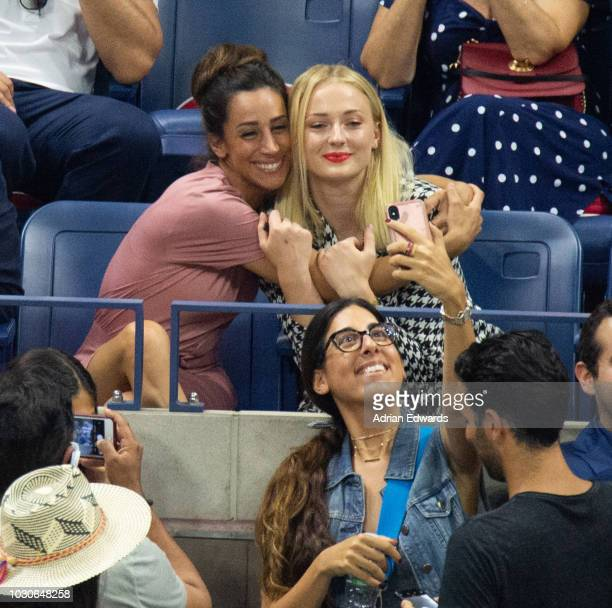 Danielle Jonas and Sophie Turner at Day 8 of the US Open held at the USTA Tennis Center on September 3 2018 in New York City