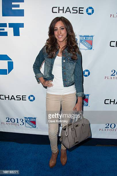 Danielle Jonas attends the Washington Capitals vs New York Rangers 2013 Playoff Game Three at Madison Square Garden on May 6 2013 in New York City