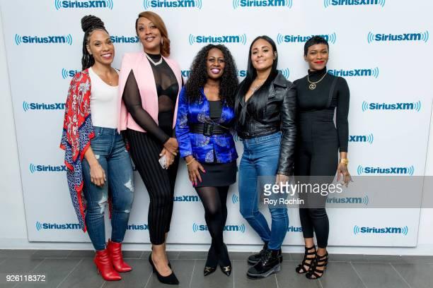 Danielle Jones Angela Stanton Tamika Wright Brandi Davis and Iesha Jeng discuss 'From The Bottom Up' during the SiriusXM Urban View 'From The Bottom...