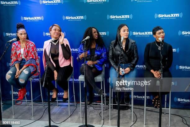 Danielle Jones Angela Stanton Tamika Wright Brandi Davis and Iesha Jeng discuss From The Bottom Up during the SiriusXM Urban View From The Bottom Up...