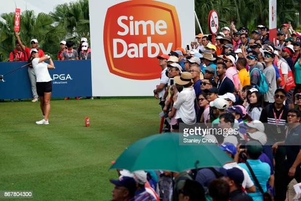 Danielle Kang after a birdie on the 18th hole during day four of the Sime Darby LPGA Malaysia at TPC Kuala Lumpur East Course on October 29 2017 in...