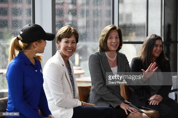 Danielle Kang defending KPMG Women's PGA Champion Suzy Whaley Vice President PGA America Lynne Doughtie US Chairman and CEO KPMG and Heather...