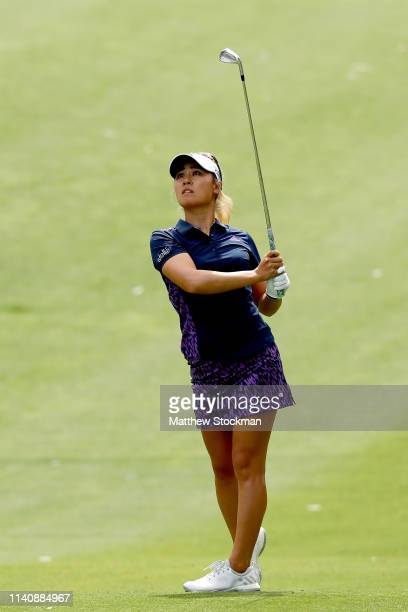Danielle Kang hits out of the fourth fairway during round 3 of the ANA Inspiration on the Dinah Shore course at Mission Hills Country Club on April...