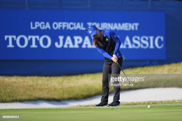 Danielle Kang of th USA putts on the 18th green during the first round of the TOTO Japan Classics 2017 at the Taiheiyo Club Minori Course on November...