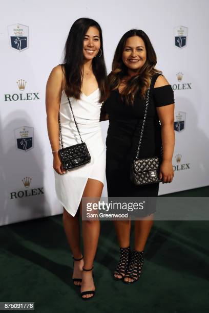 Danielle Kang of the United States and guest arrive at the LPGA Rolex Players Awards at The RitzCarlton Golf Resort on November 16 2017 in Naples...