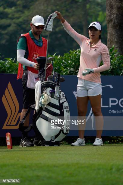 Danielle Kang of the United States during day two of the Sime Darby LPGA Malaysia at TPC Kuala Lumpur East Course on October 27 2017 in Kuala Lumpur...