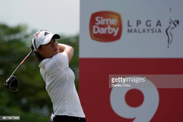 Danielle Kang of the United States in action during day four of the Sime Darby LPGA Malaysia at TPC Kuala Lumpur East Course on October 29 2017 in...