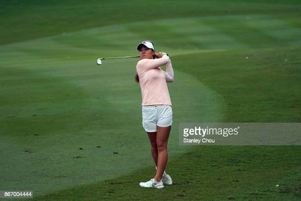 Danielle Kang of the United States in action during day two of the Sime Darby LPGA Malaysia at TPC Kuala Lumpur East Course on October 27 2017 in...
