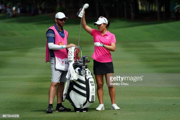 Danielle Kang of the United States on the 15th hole during day three of the Sime Darby LPGA Malaysia at TPC Kuala Lumpur East Course on October 28...