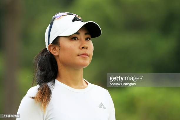Danielle Kang of the United States walks on the ninth hole during round two of the HSBC Women's World Championship at Sentosa Golf Club on March 2...