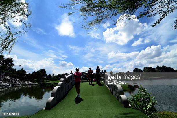 Danielle Kang of the United States walks to the 15th green during day three of the Sime Darby LPGA Malaysia at TPC Kuala Lumpur East Course on...