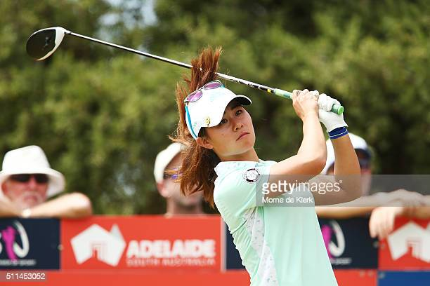 Danielle Kang of the USA competes during day four of the ISPS Handa Women's Australian Open at The Grange GC on February 21 2016 in Adelaide Australia