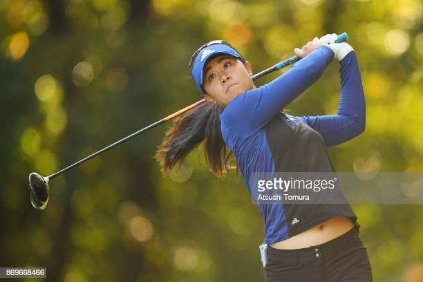 Danielle Kang of the USA hits her tee shot on the 2nd hole during the first round of the TOTO Japan Classics 2017 at the Taiheiyo Club Minori Course...