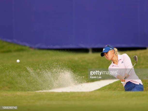 Danielle Kang of United States in action at the eighteen hole during the first round of the Swinging Skirts LPGA Taiwan Championships at Ta Shee Golf...