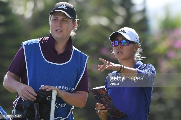 Danielle Kang of United States plays a shot during the first round of the Blue Bay LPGA on November 7 2018 in Hainan Island China