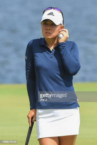 Danielle Kang of United States plays a shot on the 11th hole during the third round of the Blue Bay LPGA on November 9 2018 in Hainan Island China