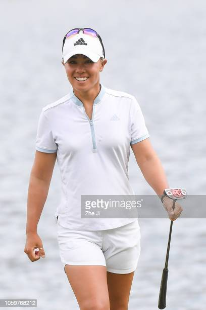 Danielle Kang of United States plays a shot on the 11th hole during the final round of the Blue Bay LPGA on November 10 2018 in Hainan Island China