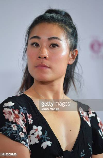 Danielle Kang of USA looks on at the Rolex Annika Awards ceremony after the second round of The Evian Championship 2017 at Evian Resort Golf Club on...