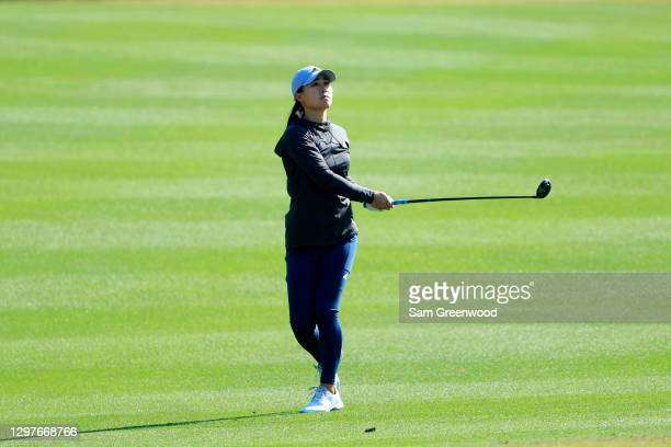 Danielle Kang plays a shot on the seventh hole during the first round of the Diamond Resorts Tournament Of Champions at Tranquilo Golf Course at the...