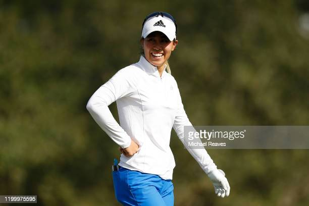 Danielle Kang reacts during the first round of the Diamond Resorts Tournament of Champions at Tranquilo Golf Course at Four Seasons Golf and Sports...