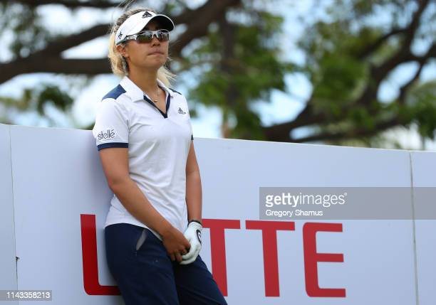 Danielle Kang waits on the 17th tee during the first round of the Lotte Championship on April 18 2019 in Kapolei Hawaii