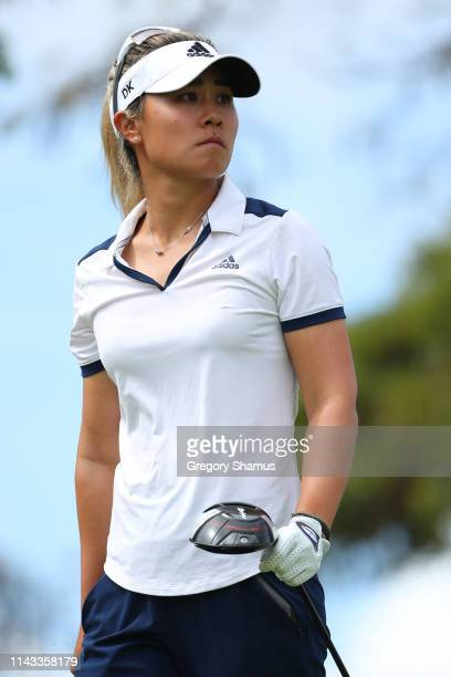 Danielle Kang watches her tee shot on the 17th hole during the first round of the Lotte Championship on April 18 2019 in Kapolei Hawaii