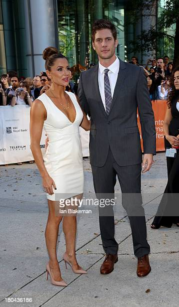 Danielle Kirlin and actor Ryan McPartlin arrive at The Right Kind Of Wrong premiere during the 2013 Toronto International Film Festival at Roy...